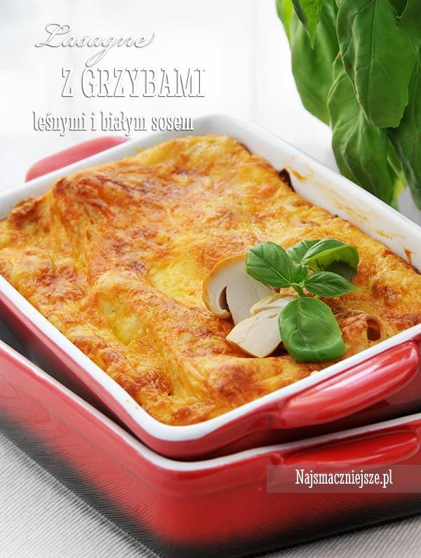 Lasagne z grzybami i białym sosem