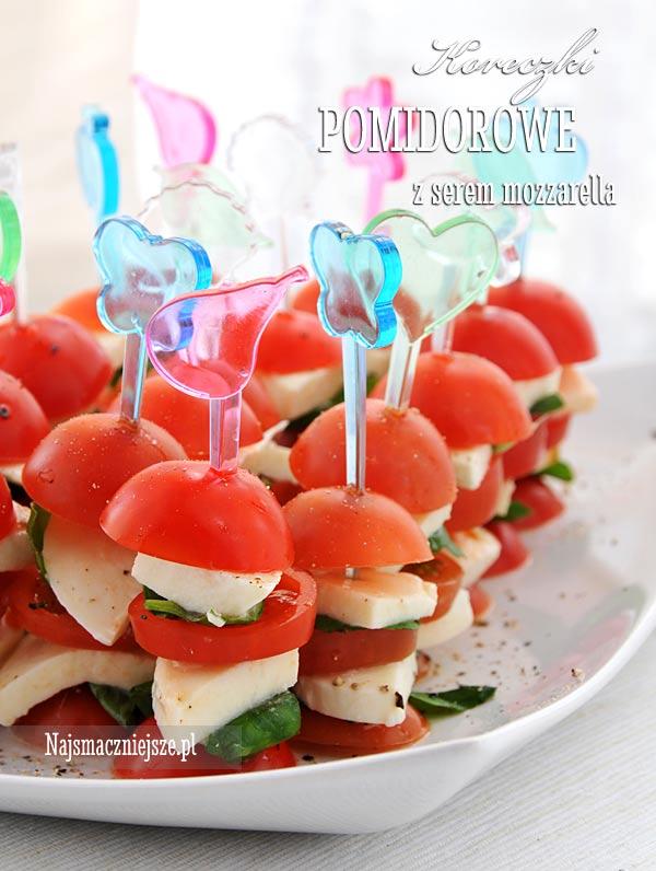 Koreczki z pomidorami