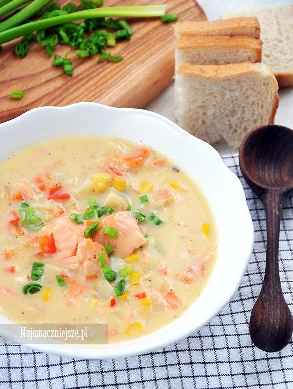 Zupa łososiawa