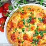 Pizza z sosem śmietanowym