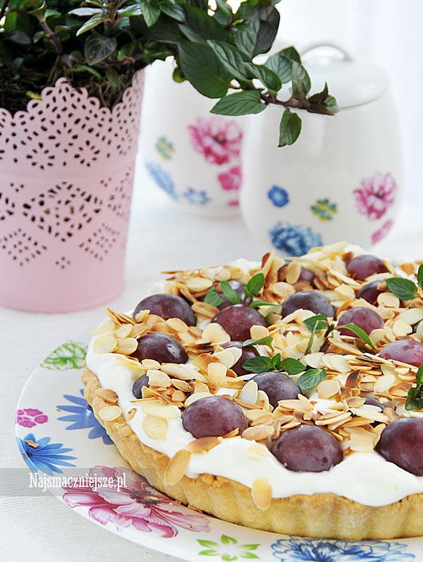 Tarta z winogronami