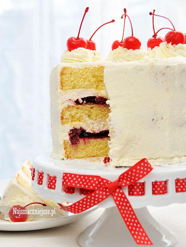 Tort z masą wiśniową