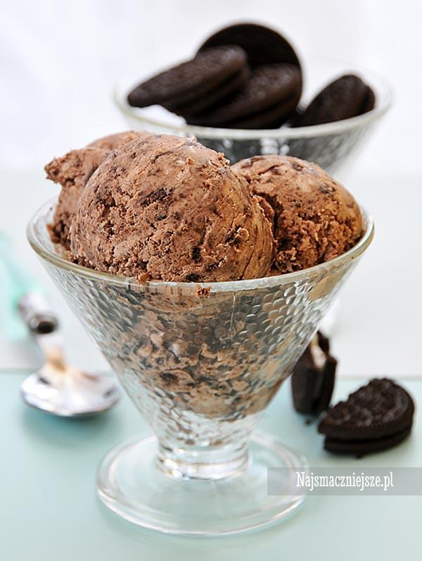 Lody czekoladowe z Oreo