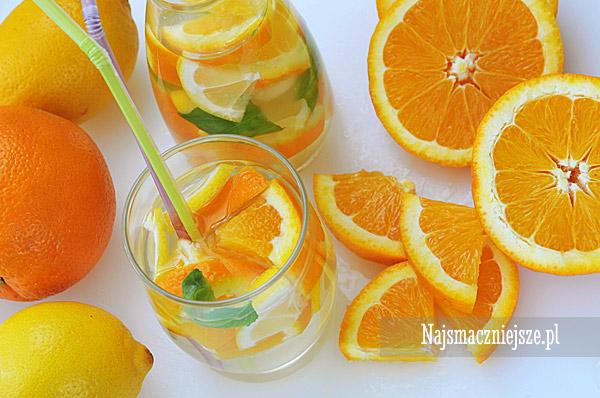 Lemoniada pomarańczowa z miętą