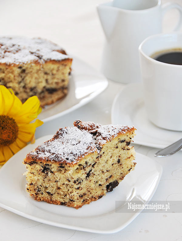Ciasto z ajerkoniakiem i czekoladą