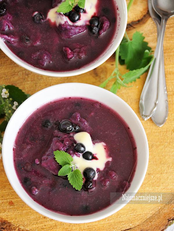 Zupa z jagodami