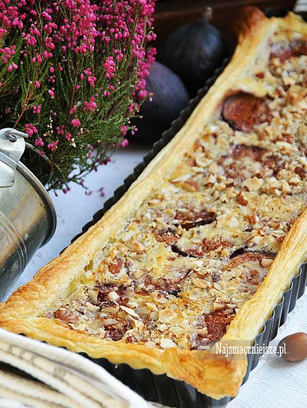 Tarta z orzechami i figami