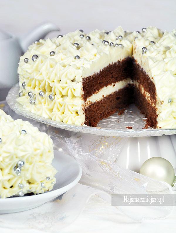 Zimowy tort czekoladowy