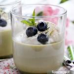 Mleczny deser z herbatą Matcha