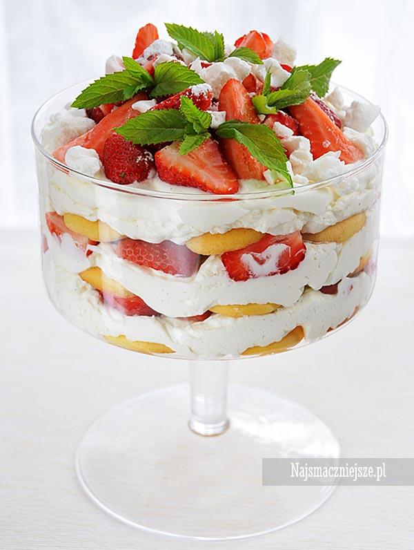 Trifle truskawkowe z wanilią