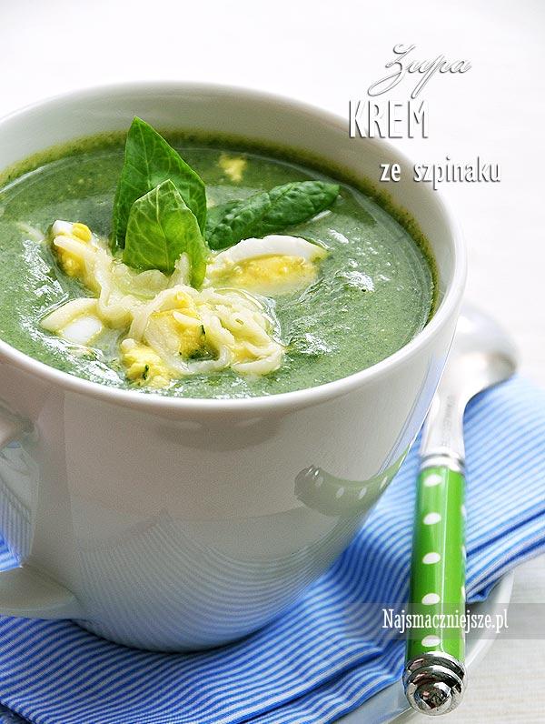 Zupa ze szpinaku