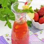 Lemoniada truskawkowa z mietą