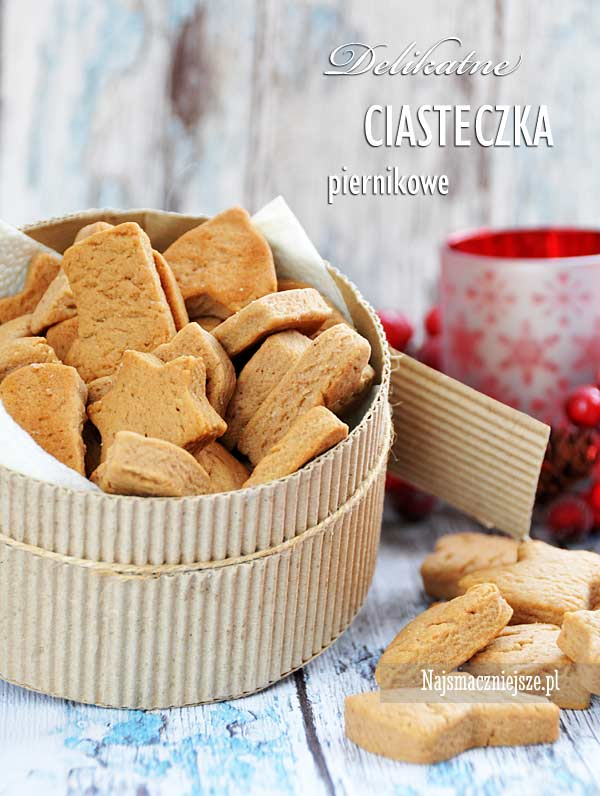 Delikatne ciasteczka piernikowe