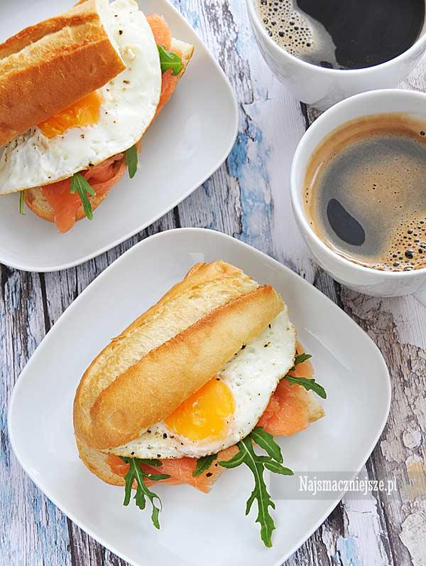Kanapka z jajkiem sadzonym