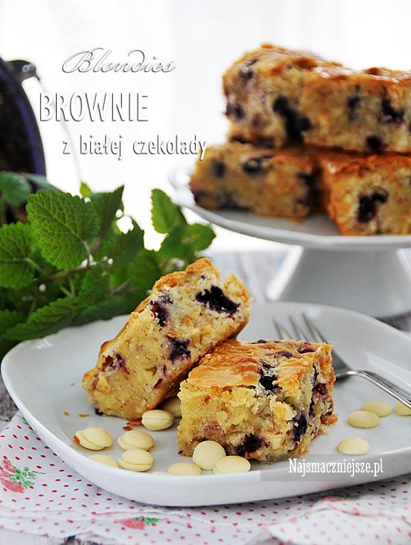 Brownie z białej czekolady