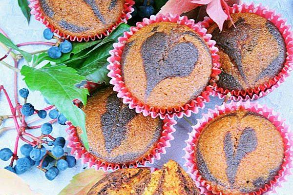 Babeczki dyniowo-kakaowe