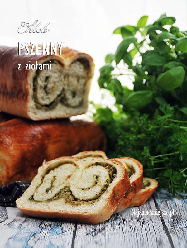 Chleb z serem i ziołami