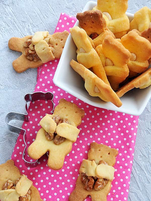 Maślane ciasteczka misie