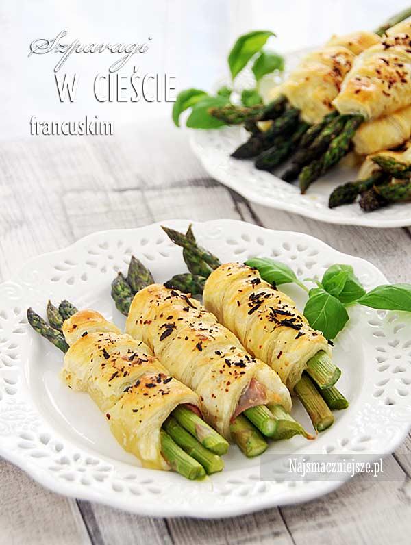 Zielone szparagi w cieście francuskim