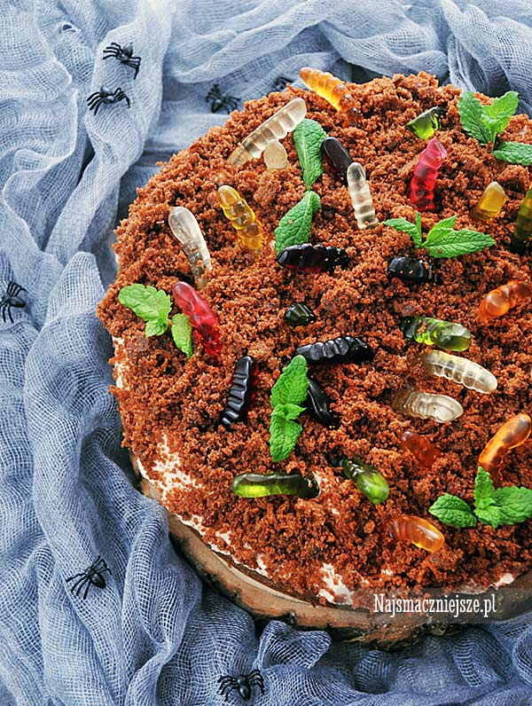 Dirt Cake Ciasto z robakami