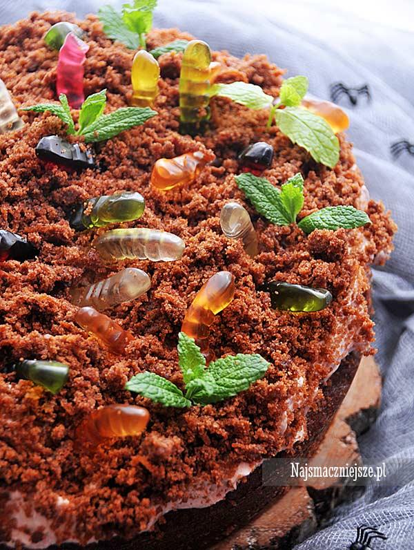 Ciasto z robakami